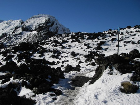 lava in snow